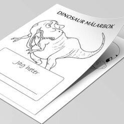 Dinosaur-målarbok