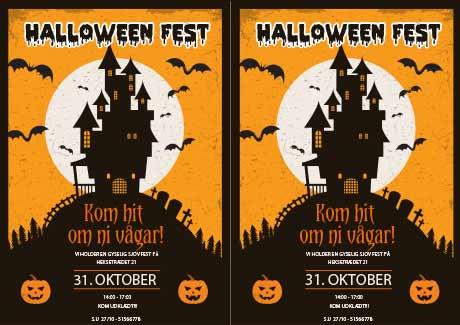 Halloween-inbjudan