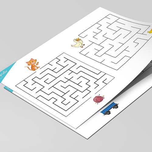 Labyrinter at skriva ut